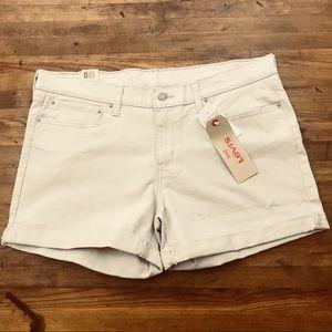 Levi's Mid Length Denim Shorts Rolled NWT Sz 33